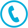 Icon of phone handset in circle