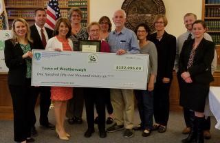 Westborough receives Green Communities designation grant check.
