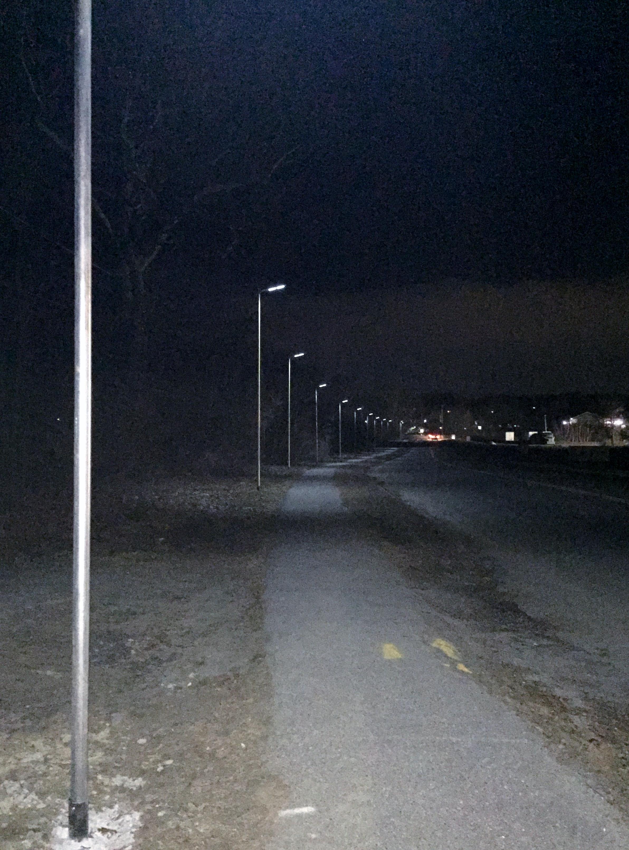 Smith Valve Sidewalk Lights Looking Toward Westborough Village